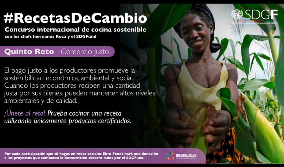 Ebro participa junto al fondo ODS en #recetasdecambio