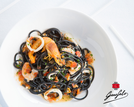 Spaguetti nero di seppia Garofalo al frutti di mare
