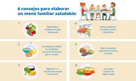 Menú saludable semanal para toda la familia