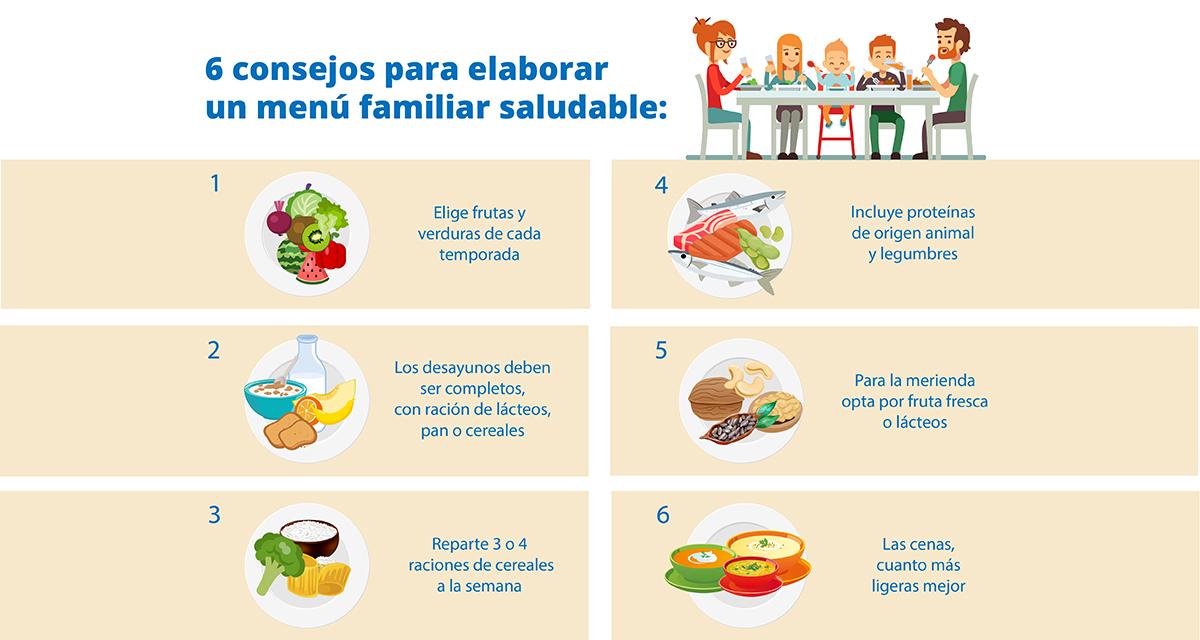 menu dieta sana y equilibrada