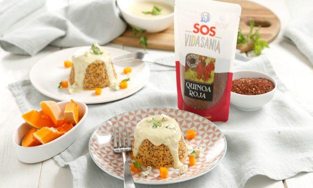 Pudding de verduras y quinoa roja