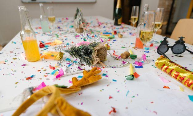 Reciclar después de fiestas