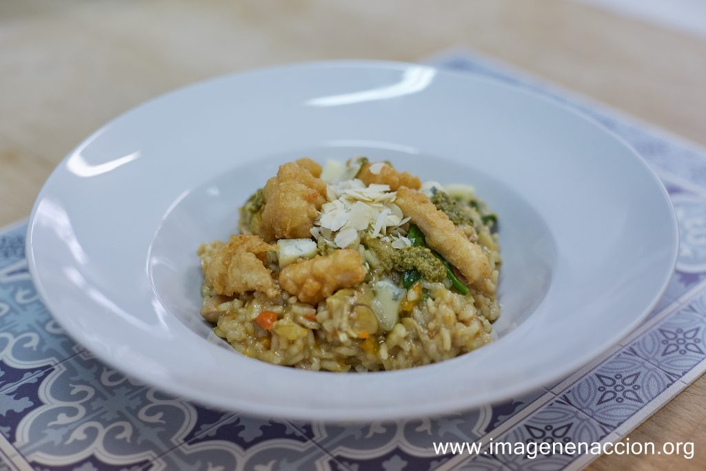 receta arroz caldoso con gorgonzola