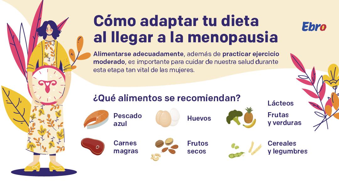 ¿Debemos adaptar la dieta al llegar a la menopausia?